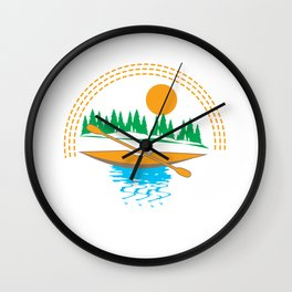 I'd Rather Be Kayaking - Funny Gift Print Design Wall Clock