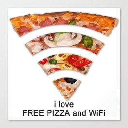 FREE PIZZA AND Wi-Fi Canvas Print