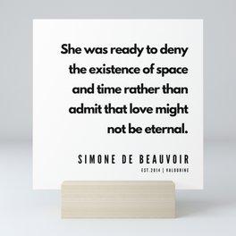 1      Simone De Beauvoir Quotes   190605 Mini Art Print