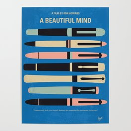 No809 My A Beautiful Mind minimal movie poster Poster