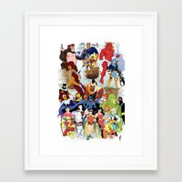 teen titans Framed Art Prints featuring Teen Titans by poopsmoothie