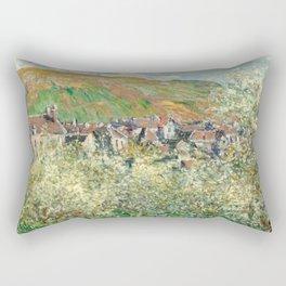 1879-Claude Monet-Flowering Plum Trees-64 x 81 Rectangular Pillow