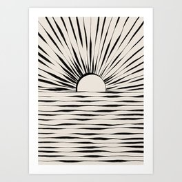 Minimal Sunrise / Sunset Art Print
