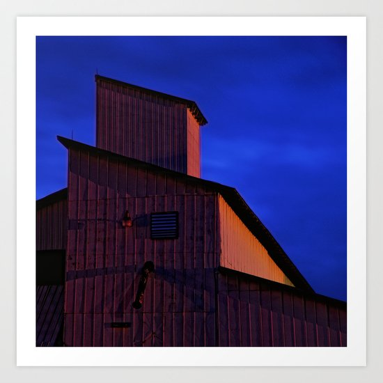 Building forms at midnight Art Print