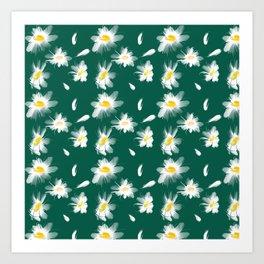 Camomiles summer Art Print