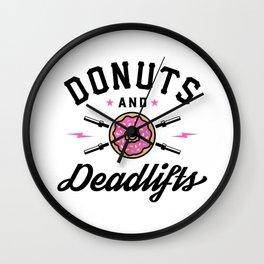 Donuts And Deadlifts v2 Wall Clock