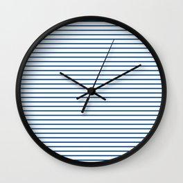 Blue Summer lines Wall Clock