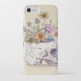 Skull of flowers iPhone Case