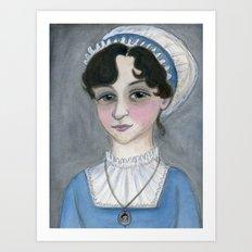 Jane Austen and Her Lost Heart Art Print