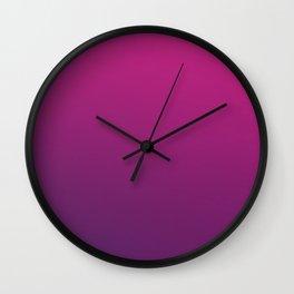 PURPLE HAZE - Minimal Plain Soft Mood Color Blend Prints Wall Clock