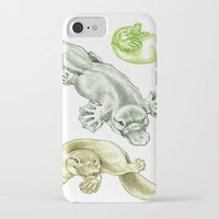 platypus iPhone & iPod Cases featuring Platypus by Mayra Boyle