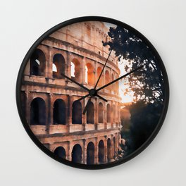 Colosseum, Rome Wall Clock