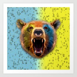 Warrior bear. Art Print