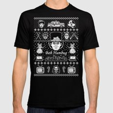 Merry Scroogedmas Mens Fitted Tee MEDIUM Black