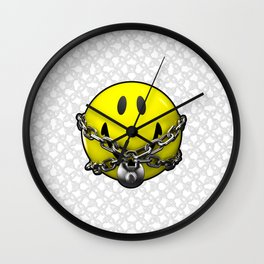 Quit Your Grinning / 3D chained up smiley Wall Clock
