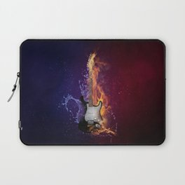 Cool Music Guitar Fire Water Artistic Laptop Sleeve