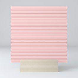 Wide Soft Blush Pink Mattress Ticking Stripes Mini Art Print