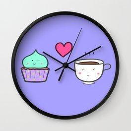 cupcake loves coffee Wall Clock
