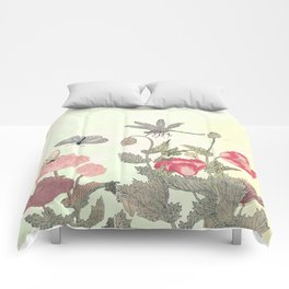 Butterfly and flowers -The Still Point Comforters