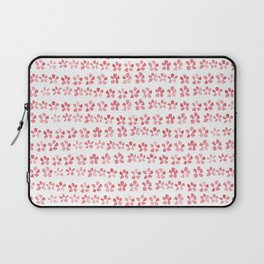 Floral Pink - nature spring watercolour pattern Laptop Sleeve