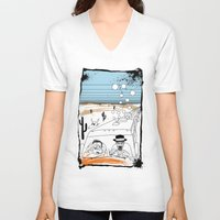 fear and loathing V-neck T-shirts featuring Fear and Loathing in Albuquerque II by Evan