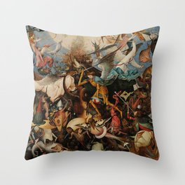 Pieter Bruegel the Elder The Fall of the Rebel Angels Throw Pillow
