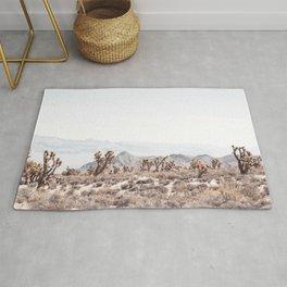 Joshua Tree II // Vintage Desert Landscape Cactus Southwest Mountains Rug
