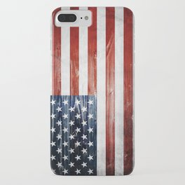 American Wooden Flag iPhone Case