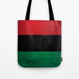 Distressed Afro-American / Pan-African / UNIA flag Tote Bag