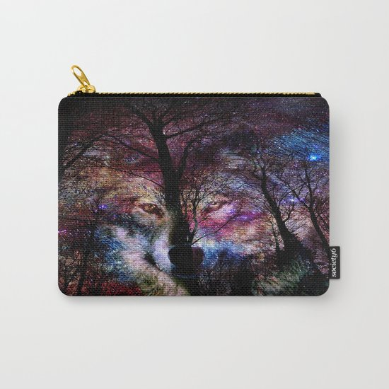 wolf in the forest Carry-All Pouch