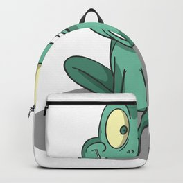 Cute frog grinning Backpack