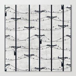 Telephone Poles - DAWN Canvas Print