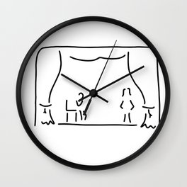 actor theatre stage Wall Clock