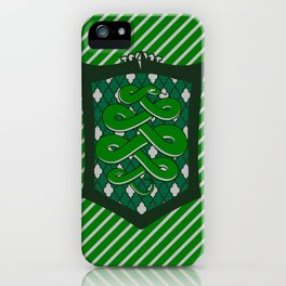 HP Slytherin House Crest iPhone Case