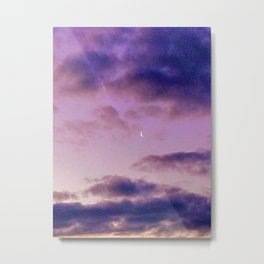 Crescent Moon in the Morning Metal Print