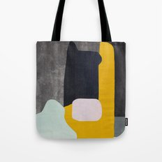 Yellow black and blue creature Tote Bag