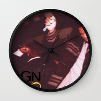 notorious big Wall Clocks featuring Notorious Big and Method Man - Real Rap by SF Bucciarelli aka Bugs