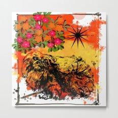 Pekingese pop art Metal Print