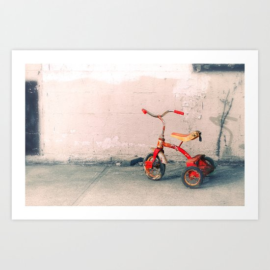 Childs Vintage Tricycle Art Print