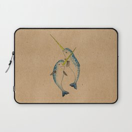 Winter Narwhals Laptop Sleeve