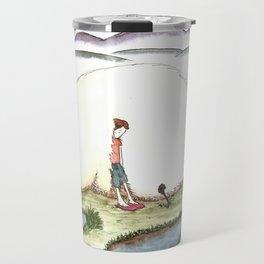 Bunny and Girl Travel Mug