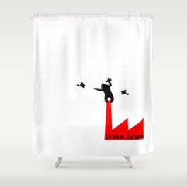 Urban Apnea King Kong Shower Curtain
