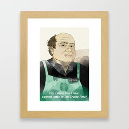 eggnog Framed Art Print