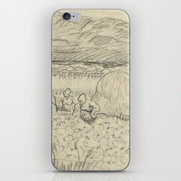 Landscape with Peasant Women Harvesting iPhone Skin