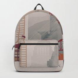Warm Vertical Louisville skyline design Backpack