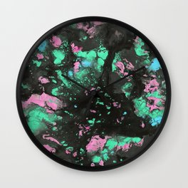 Radioactive Galaxy Wall Clock