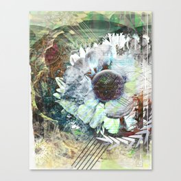 My Flower Layers Canvas Print