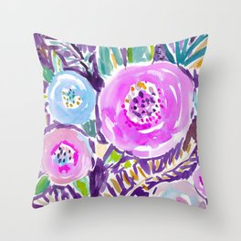 Gardens of Sausalito Throw Pillow