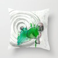 poodle Throw Pillows featuring Poodle by Pfirsichfuchs