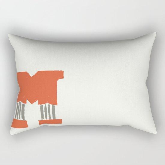 M Lettering Rectangular Pillow